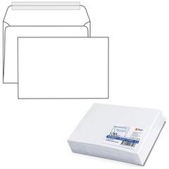 Конверт С5, комплект 100 шт., отрывная полоса STRIP, белый, 162×229 мм, 80 г/<wbr/>м<sup>2</sup>