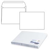 Конверт С4, комплект 50 шт., отрывная полоса STRIP, белый, 90 г/<wbr/>м<sup>2</sup>, 229×324 мм