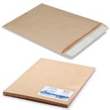 Конверт-пакет С4 плоский, комплект 25 шт., 229×324 мм, отрывная полоса, крафт-бумага, коричневый, на 90 листов