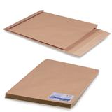 Конверт-пакет Е4+ объемный, комплект 25 шт.,300×400×40 мм, отрывная полоса, крафт-бумага, коричневый, на 300 листов