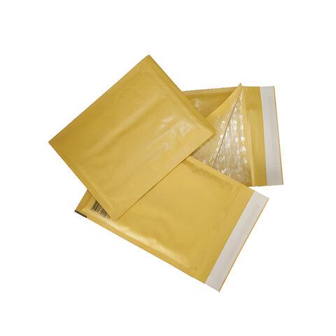 Конверт-пакет с прослойкой из пузырчатой пленки, комплект 10 шт., 150×210 мм, отрывная полоса, крафт-бумага, коричневый