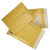 Конверт-пакет с прослойкой из пузырчатой пленки, комплект 10 шт., 240×330 мм, отрывная полоса, крафт-бумага, коричневый