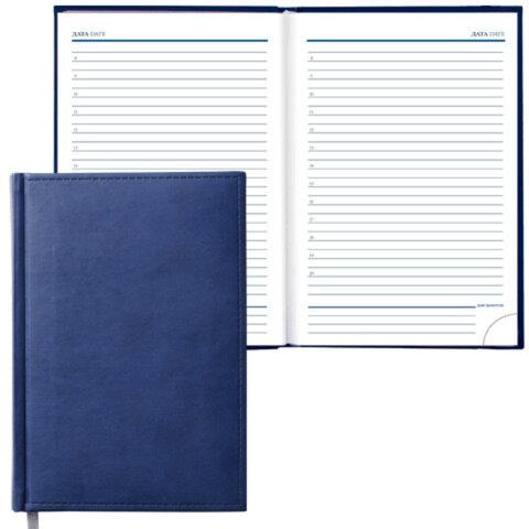 Ежедневник ERICH KRAUSE, недатированный, А5, 130×210 мм, «Vivella», «гладкая кожа», синий