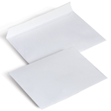 Конверты С6, комплект 1000 шт., отрывная полоса STRIP, белые, 114×162 мм