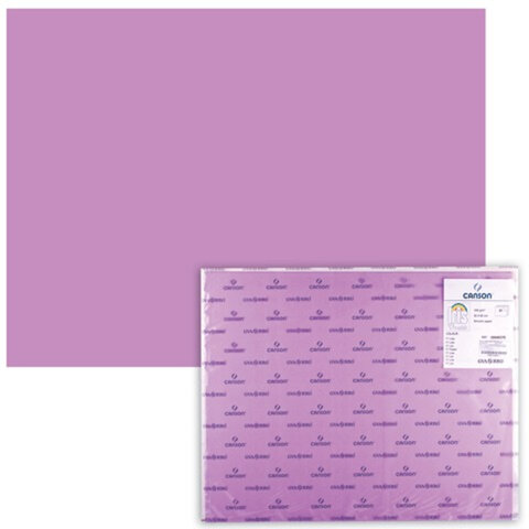 "Бумага (картон) CANSON ""Iris Vivaldi"", А2+, 500х650 мм, 240 г/м2, 2-сторонняя, лиловая"