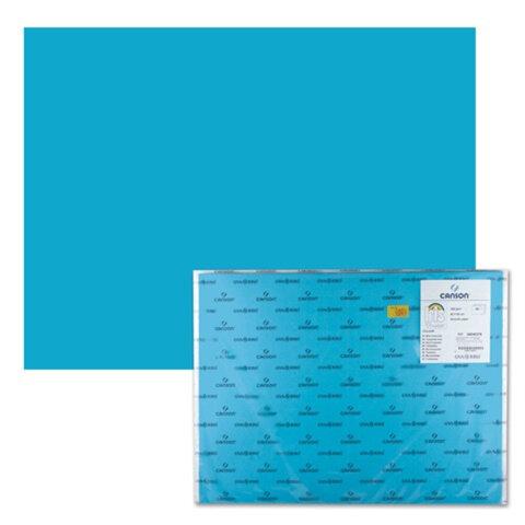 "Бумага (картон) CANSON ""Iris Vivaldi"", А2+, 500х650 мм, 240 г/м2, 2-сторонняя, бирюзовая"