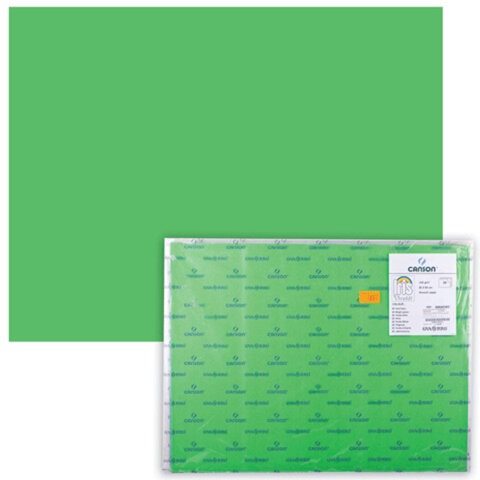 "Бумага (картон) CANSON ""Iris Vivaldi"", А2+, 500х650 мм, 240 г/м2, 2-сторонняя, зеленая"