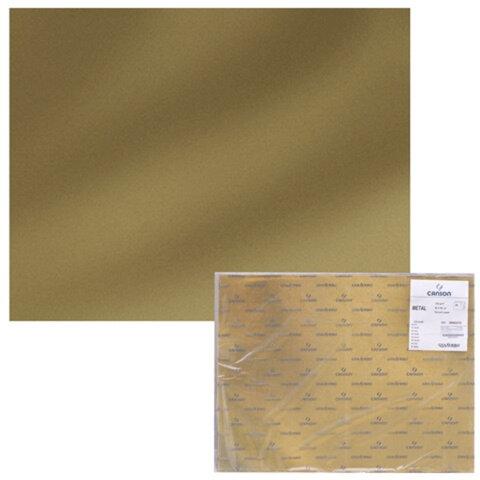 Бумага (картон) CANSON «Extra», А2+, 500×650 мм, 230 г/<wbr/>м<sup>2</sup>, золотая фольга