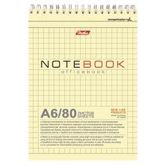Блокнот А6, 80 л., гребень, жесткая подложка, HATBER, «Office Book», 110×145 мм, 80Б6влВ1гр 06602