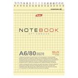 Блокнот А6, 80 л., гребень, жесткая подложка, HATBER, «Office Book», 110×145 мм