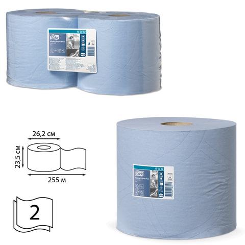 Бумага протирочная TORK (W1, W2), комплект 2 шт., Advanced, 750 листов в рулоне, 34×23 см, 2-сл., диспенсер 601741, -678, 130052