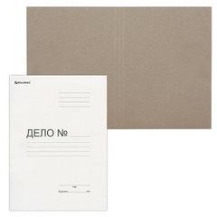 Папка «Дело» картонная (без скоросшивателя) BRAUBERG, гарантированная плотность 300 г/<wbr/>м<sup>2</sup>, до 200 листов