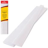 Цветная бумага крепированная BRAUBERG (БРАУБЕРГ), стандарт, растяжение до 65%, 25 г/<wbr/>м<sup>2</sup>, европодвес, белая, 50×200 см