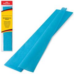 Цветная бумага крепированная BRAUBERG, стандарт, растяжение до 65%, 25 г/<wbr/>м<sup>2</sup>, европодвес, бирюза, 50×200 см