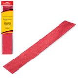 Цветная бумага крепированная BRAUBERG (БРАУБЕРГ), металлик, растяжение до 35%, 50 г/<wbr/>м<sup>2</sup>, европодвес, красная, 50×100 см