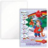 Белый картон, А3, мелованный, 8 листов, BRAUBERG (БРАУБЕРГ) «Kids series», «В лесу», 297×420 мм