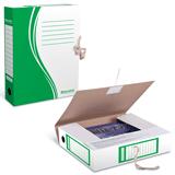 Накопитель документов, папка с завязками BRAUBERG (БРАУБЕРГ), 75 мм, 2 х/<wbr/>б завязки, зеленый, до 700 л.