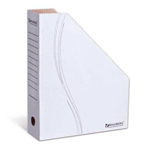 Накопитель документов, стойка-угол BRAUBERG (БРАУБЕРГ), 75 мм, белый, 75 мм, до 700 л.