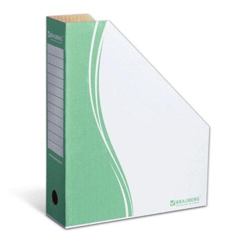 Накопитель документов, стойка-угол BRAUBERG (БРАУБЕРГ), 75 мм, зеленый, до 700 л.