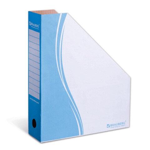 Накопитель документов, стойка-угол BRAUBERG (БРАУБЕРГ), 75 мм, синий, до 700 л.
