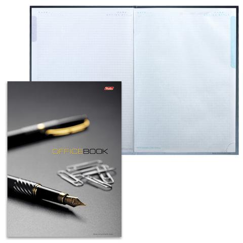 Блокнот 7БЦ, А4, 120 л., обложка ламинированная, 5-цветный блок, HATBER, «Office Book», 205×290 мм, 120ББ4В1 07971