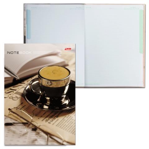 Блокнот 7БЦ, А4, 80 л., обложка ламинированная, 5-цветный блок, HATBER, «Кофе-брейк», 205×290 мм, 80ББ4В1 07461