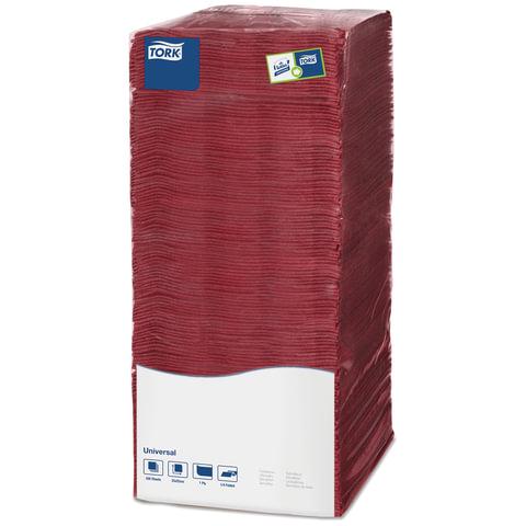 Салфетки TORK Big Pack, 25х25, 500 шт., бордовые, 478669