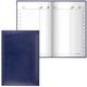 Телефонная книжка А5, 136×202 мм, 96 л., BRAUBERG (БРАУБЕРГ), вырубной алфавит, «Imperial», под гладкую кожу, темно-синяя