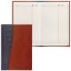 Телефонная книжка А5, 136×202 мм, 96 л., BRAUBERG (БРАУБЕРГ), вырубной алфавит, «Cayman», комбин. гладкая и кожа крок, чер. с кор.