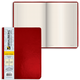 Бизнес-тетрадь BRAUBERG (БРАУБЕРГ) А4, 200×252 мм, «Income», под кожу классик, клетка, 128 л., красная