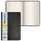Бизнес-тетрадь BRAUBERG (БРАУБЕРГ) А5, 148×218 мм, «Income», под кожу классик, клетка, 128 л., черная
