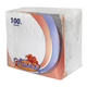 Салфетки бумажные, 100 шт., 24×24 см, «Лилия», белые, 100% целлюлоза