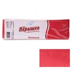 Салфетки бумажные, 400 шт., 24×24 см, «Перышко» Big Pack, красные интенсив, сырье Италия