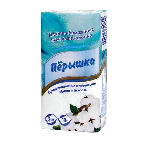 "Платки носовые ""Перышко"", 3-х слойные, 10 шт. х (спайка 10 пачек)"