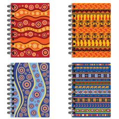 Блокнот А6, 60 л., гребень сбоку, пластиковая обложка, BRAUBERG, линия, «Африка», 4 вида, 105×148 мм