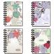 Блокнот А6, 120 л., гребень сбоку, пластиковая обложка, линия, фольга, BRAUBERG (БРАУБЕРГ), «Цветы», 4 вида, 105×148 мм