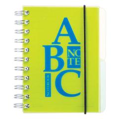 Блокнот А6, 120 л., гребень сбоку, пластиковая обложка, линия, 2 разделителя, BRAUBERG, «Буквы», 4 вида, 105×148 мм
