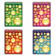 Блокнот А6, 60 л., гребень, пластиковая обложка, жесткая подложка, линия, BRAUBERG (БРАУБЕРГ), «Смайлы», 4 вида, 102×145 мм