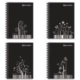 Блокнот А6, 80 л.,гребень сбоку, пластиковая обложка, клетка, BRAUBERG (БРАУБЕРГ), «Штрихкод», 4 вида, 105×145 мм