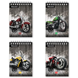 Блокнот А5, 80 л., гребень, мелованный картон обложка, клетка, BRAUBERG (БРАУБЕРГ), «Мотоциклы», 4 вида, 146×206 мм