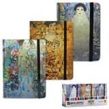 Блокнот 7БЦ, А7, 80 л., на резинке, обложка ламинированная, клетка, BRAUBERG, «Art», 3 вида, 90×140 мм