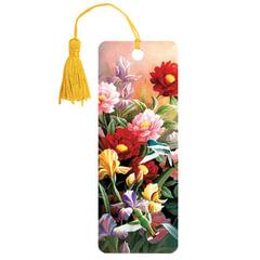 Закладка для книг 3D, BRAUBERG, объемная, «Цветы», с декоративным шнурком-завязкой