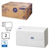 Полотенца бумажные, 250 шт., TORK (H3) Advanced, комплект 15 шт., 2-х слойные, белые, 25×23, ZZ (V), диспенсер 600163,-283, 290163