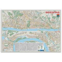 Карта настенная «Волгоград», М-1:15 тысяч, размер 123×173 см, ламинированная