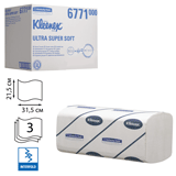 ��������� �������� 96 ��., KIMBERLY-CLARK Kleenex, �������� 30 ��., Ultra, 3-��., �����, 31,5×21,5 ��, Interfold, 601533-534, 6771