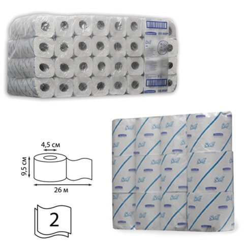 Бумага туалетная 25 м, KIMBERLY-CLARK Scott, комплект 96 шт., Performance, 2-х слойная, белая, диспенсер 601542, АРТ. 8550, 8559
