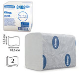 Бумага туалетная KIMBERLY-CLARK Kleenex, комплект 36 шт., Ultra, листовая, 200 л., 18,6×12,5 см, 2-слойная, диспенсер 601545, 8408