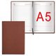 Ежедневник BRAUBERG недатированный, А5, 138×213 мм, «London», под гладкую кожу, 160 л., коричневый