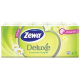 Платки носовые ZEWA Delux, 3-х слойные, 10 шт. х (спайка 10 пачек), аромат ромашки