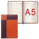 Ежедневник GALANT недатированный, А5, 148×218 мм, «Kassel», 160 л., комбинированная кожа, коричневый/<wbr/>светло-коричневый